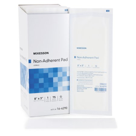 Non-Adherent Dressing McKesson Nylon / Polyester 3 X 8 Inch Sterile Product Image