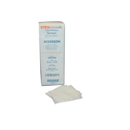 Nonwoven Sponge McKesson Polyester / Rayon 4-Ply 3 X 3 Inch Square NonSterile Product Image