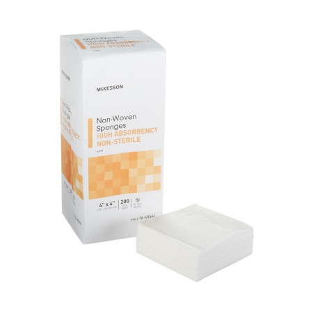 Nonwoven Sponge McKesson Polyester / Rayon 4-Ply 4 X 4 Inch Square NonSterile Product Image