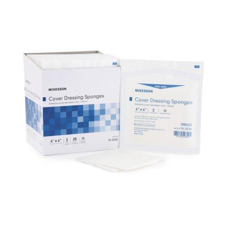 Nonwoven Sponge McKesson Nonwoven / Rayon / Cellulose 4 X 4 Inch Square Sterile Product Image