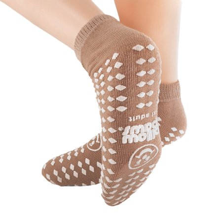 Slipper Socks Pillow Paws® X-Large Tan Ankle High Product Image