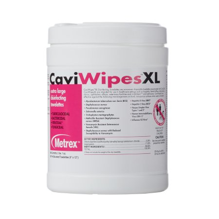 CaviWipes™ Surface Disinfectant Premoistened Alcohol Based Wipe 66 Count Canister Disposable Alcohol Scent NonSterile Product Image