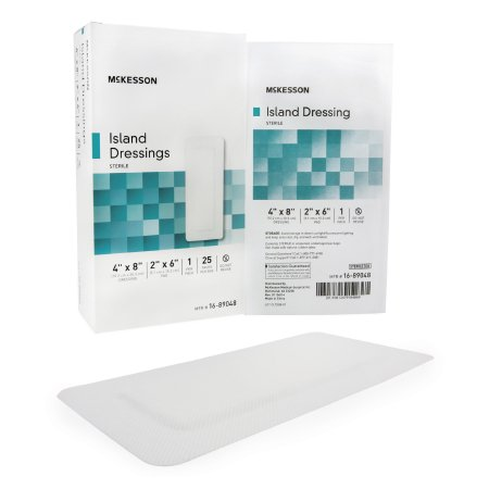 Adhesive Dressing McKesson 4 X 8 Inch Polypropylene / Rayon Rectangle White Sterile Product Image
