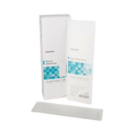 Adhesive Dressing McKesson 4 X 14 Inch Polypropylene / Rayon Rectangle White Sterile Product Image