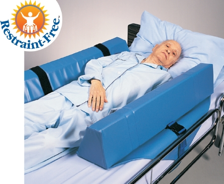 Skil-Care™ Double Bolster Roll-Control System, Foam, 34 in. L x 8 in. W x 7 in. H, Blue