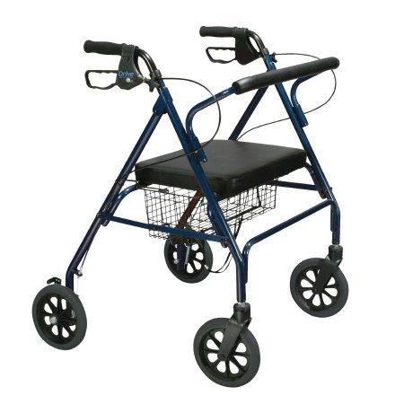 drive™ Go-Lite 4-Wheel Bariatric Rollator, Blue