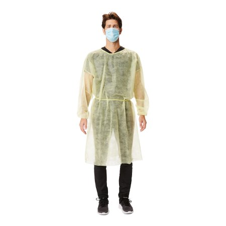 Protective Procedure Gown McKesson X-Large Yellow NonSterile Disposable Product Image