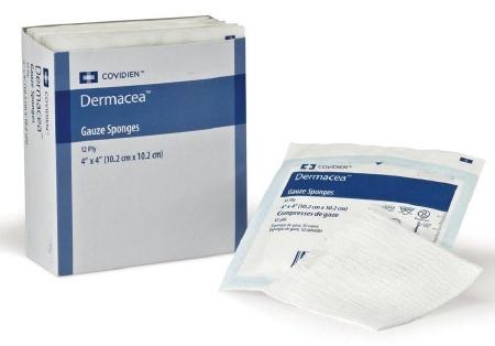 Gauze Sponge Dermacea™ Cotton 16-Ply 4 X 4 Inch Square NonSterile Product Image