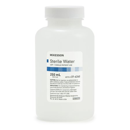 Irrigation Solution Sterile Water for Irrigation Not for Injection Bottle, Screw Top 250 mL (1/each)