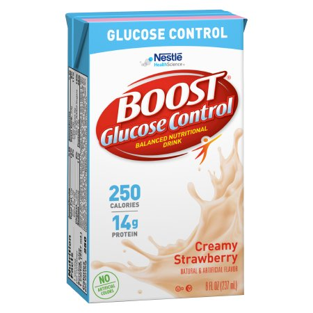 Oral Supplement Boost Glucose Control® Strawberry Flavor Ready to Use 8 oz. Tetra Brik Product Image