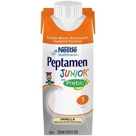 Pediatric Oral Supplement / Tube Feeding Formula Peptamen Junior® with Prebio¹™ Vanilla Flavor 8.45 oz. Tetra Prisma® Ready to Use Product Image