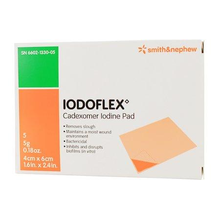 Impregnated Dressing Iodoflex™ Pad 1-1/2 X 2- 3/8 Inch Gauze Cadexomer Iodine Sterile Product Image