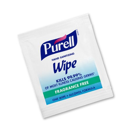 Hand Sanitizing Wipe Purell® 100 Count Ethyl Alcohol Wipe Individual Packet Product Image