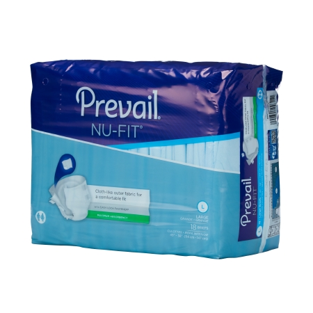 Adult ontinent Brief Prevail� Nu-Fit� Tab Closure Large Disposable Heavy Abso