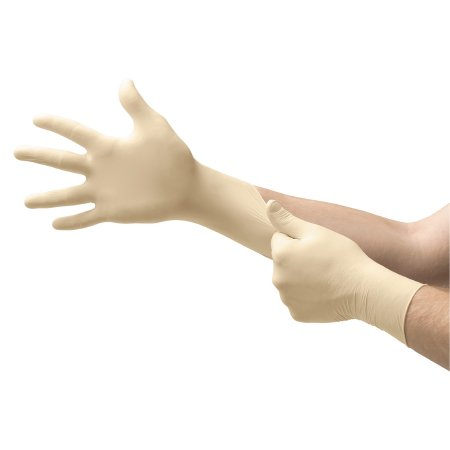 Exam Glove COMFORTGrip™ Medium NonSterile Latex Standard Cuff Length Fully Textured Natural Not Chemo Approved Product Image