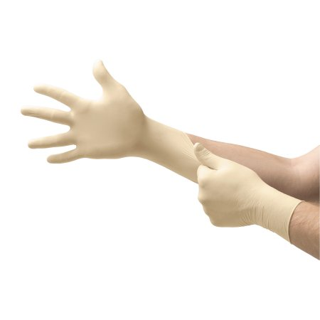 Exam Glove COMFORTGrip™ Small NonSterile Latex Standard Cuff Length Fully Textured Natural Not Chemo Approved Product Image