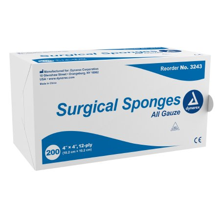 Gauze Sponge Dynarex® Gauze 12-Ply 4 X 4 Inch Square NonSterile Product Image
