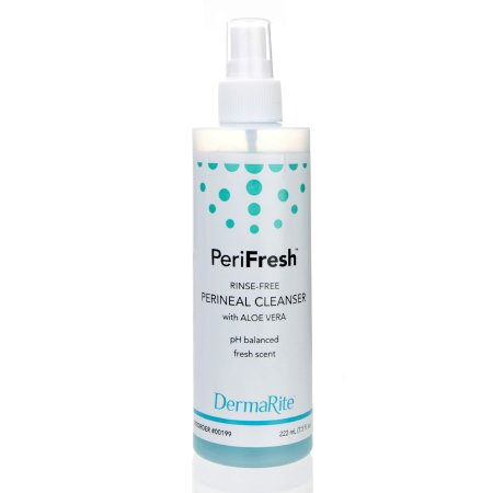 Rinse-Free Perineal Wash PeriFresh® Liquid 7.5 oz. Pump Bottle Scented Product Image
