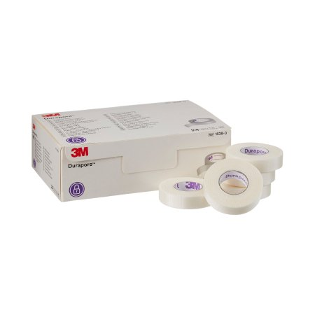 Medical Tape 3M™ Durapore™ Silk-Like Cloth 1/2 Inch X 10 Yard White NonSterile Product Image