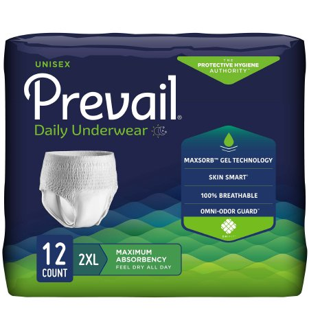Prevail Extra Absorbency Protective Underwear, Pull On - Case
