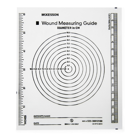 Wound Measuring Guide McKesson 5 X 7 Inch Clear Plastic NonSterile Product Image