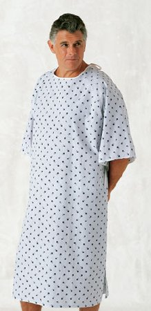 Patient Exam Gown 10X-Large Teal Diamond Print Reusable (12/dozen)