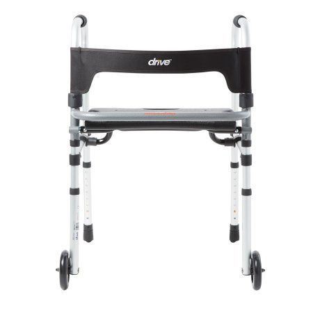 Dual Release Folding Walker Adjustable Height Clever-Lite LS Aluminum Frame 300 lbs. Weight Capacity 29-1/2 to 39 Inch Height Product Image