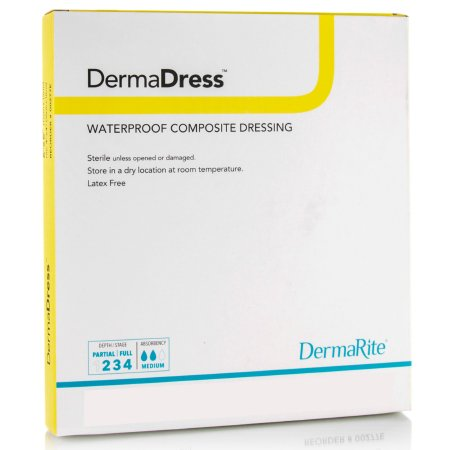 Composite Dressing DermaDress™ Waterproof 4 X 4 Inch Polyester / Rayon / Nonwoven Sterile Product Image