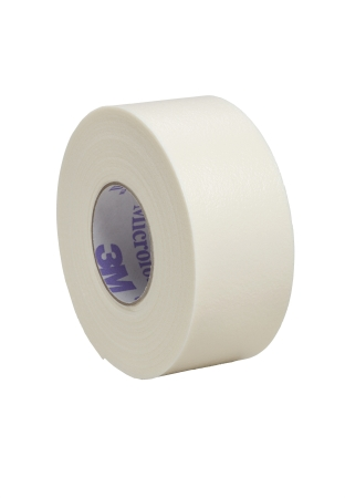 Medical Tape 3M™ Microfoam™ Water Resistant Foam / Acrylic Adhesive 1 Inch X 5-1/2 Yard White NonSterile Product Image