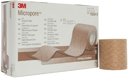 Medical Tape 3M™ Micropore™ Skin Friendly Paper 2 Inch X 10 Yard Tan NonSterile Product Image