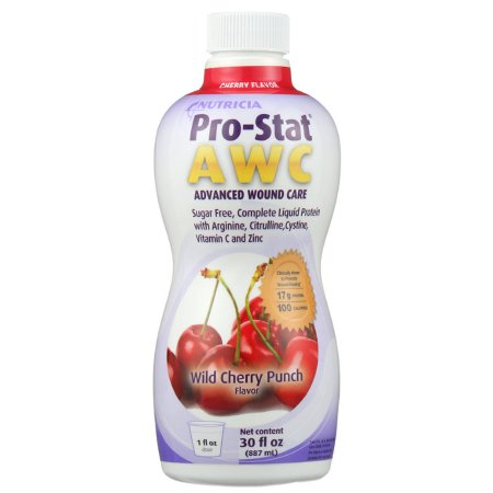 Protein Supplement Pro-Stat® Sugar Free AWC Wild Cherry Punch Flavor 30 oz. Bottle Ready to Use Product Image