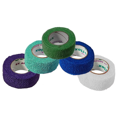 Cohesive Bandage CoFlex® NL 1 Inch X 5 Yard 12 lbs. Tensile Strength Self-adherent Closure Teal / Blue / White / Purple / Green NonSterile Product Image