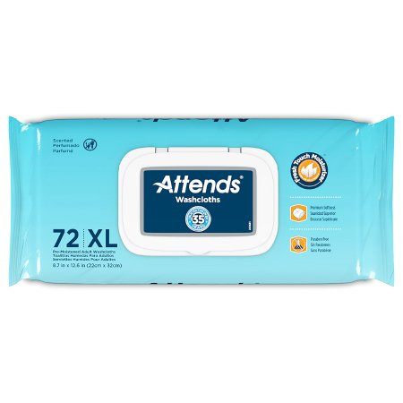 Personal Wipe Attends® Soft Pack Aloe / Vitamin E Scented 72 Count Product Image