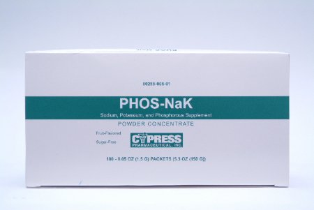 Dietary Supplement Phos-NaK Sodium/Potassium/Phosphorus 1.5g packets (100/box)
