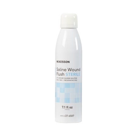 Saline Wound Flush McKesson 7.1 oz. Spray Can Sterile USP Normal Saline (Sterile 0.9% Sodium Chloride) Product Image