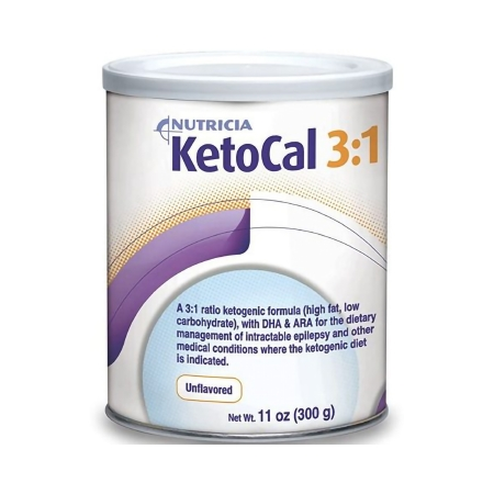 Oral Supplement KetoCal® 3:1 Unflavored Powder 300 Gram Can Product Image