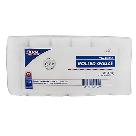 Conforming Bandage Dukal™ Cotton 2-Ply 2 Inch X 5 Yard Roll Shape NonSterile Product Image