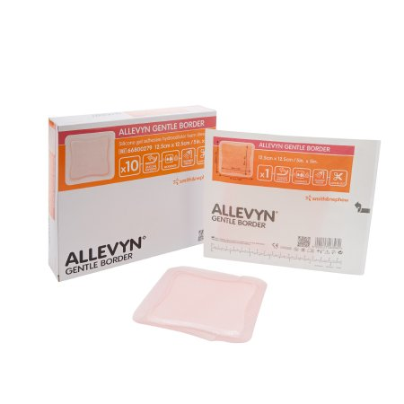 Silicone Foam Dressing Allevyn Gentle Border 5 X 5 Inch Square Silicone Gel Adhesive with Border Sterile Product Image