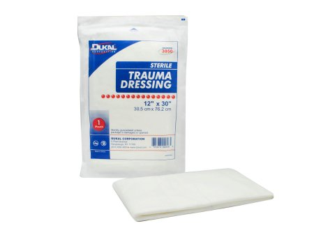 Trauma Dressing Dukal™ Nonwoven 12 X 30 Inch Rectangle Sterile Product Image