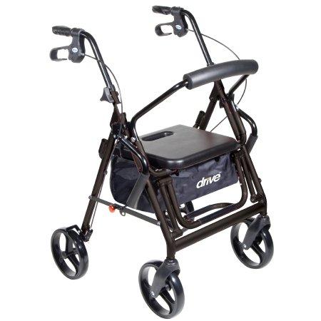 4 Wheel Rollator drive™ Duet Black Folding Aluminum Frame Product Image
