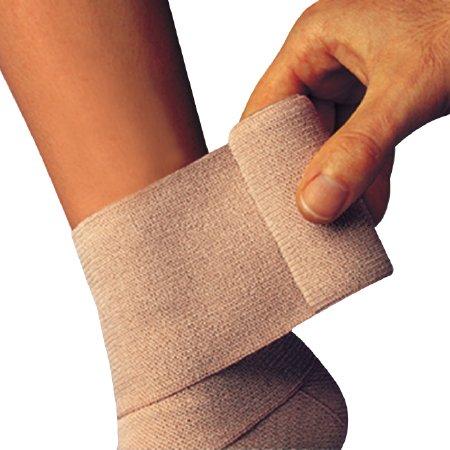 Compression Bandage Comprilan® 4-7/10 Inch X 5-1/2 Yard Standard Compression Clip Detached Closure Tan NonSterile Product Image
