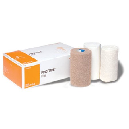 4 Layer Compression Bandage System Profore Lite Low Compression Self-adherent / Tape Closure Tan / White NonSterile Product Image