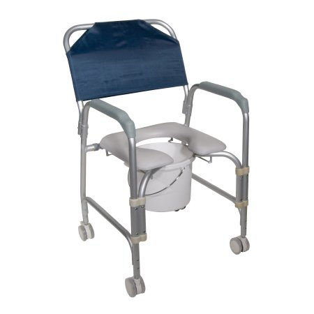 Commode / Shower Chair drive™ Fixed Arm Aluminum Frame 16 Inch Seat Width Product Image
