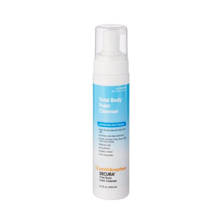 Rinse-Free Antimicrobial Body Wash Secura™ Total Body Foaming 8.5 oz. Pump Bottle Scented Product Image