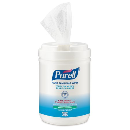 Hand Sanitizing Wipe Purell® 175 Count Ethyl Alcohol Wipe Canister Product Image