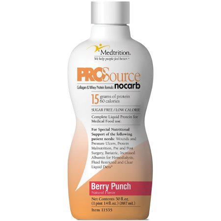Protein Supplement ProSource NoCarb™ Berry Punch Flavor 32 oz. Bottle Ready to Use Product Image