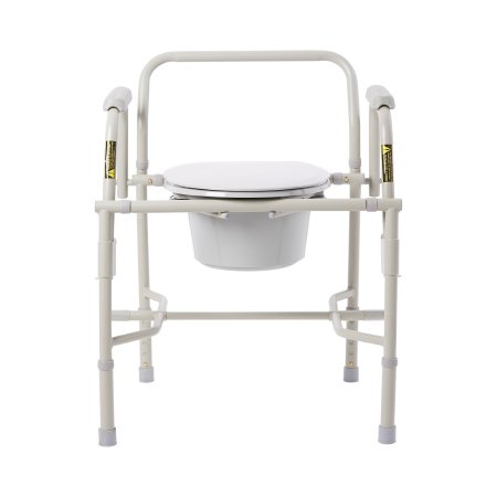 Knocked Down Commode Chair drive™ Drop Arm Steel Frame Back Bar 13-3/4 Inch Seat Width Product Image