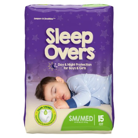 Unisex Youth Absorbent Underwear Cuties® Sleep Overs® Pull On with Tear Away Seams Small / Medium Disposable Heavy Absorbency Product Image