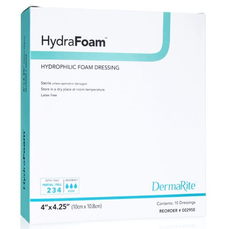 Foam Dressing HydraFoam™ 4 X 4-1/4 Inch Rectangle Non-Adhesive without Border Sterile Product Image