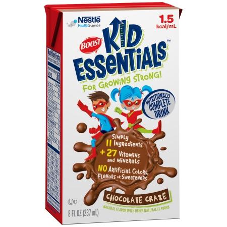 Pediatric Oral Supplement / Tube Feeding Formula Boost® Kid Essentials™ 1.5 Chocolate Craze Flavor 8 oz. Tetra Brik® Ready to Use Product Image